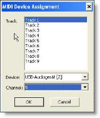 Adobe Audition 2.0 MIDI track control