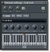 Fruity Loops FL Studio 6 FruitKick kick synthesizer