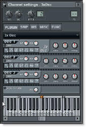 Fruity Loops 3xOsc Synthesizer