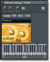 Fruity Loops Plucked! strings modelling synthesizer