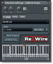 Fruity Loops FL Studio 6 - Rewired Plugin