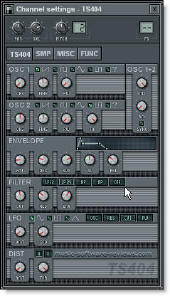 Fruity Loops TS 404 Synthesizer