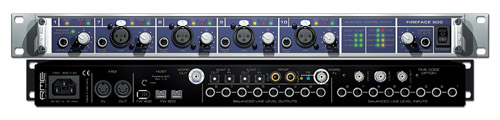 laptop recording RME firewire interface