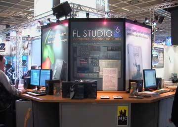 Musikmesse Frankfurt 2006 Image Line booth Fruity Loops Fl Studio 6