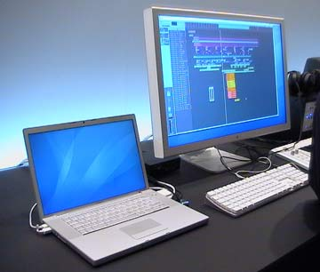 "Musikmesse Frankfurt 2006 30"" Cinema Display and MacBook Pro"